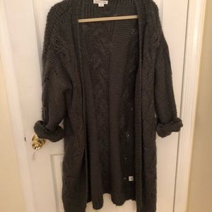 Forever 21 Oversized open front cardigan